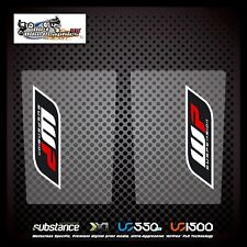 WP Suspension White Surround Upper Fork Black On Clear Decal Sticker MX (67)
