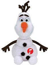 Ty Disney Olaf mit  Glitter und Sound 30 cm, Schneemann Eiskönigin Plüschfigur
