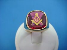 MASONIC MEN'S VINTAGE COMPASS RING, 10K YELLOW GOLD, 9.6 GRAMS, SIZE 8