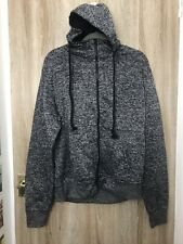 Slim Horse Men's Zip Up Hoodie Jacket  Marble Dark Gray XXL