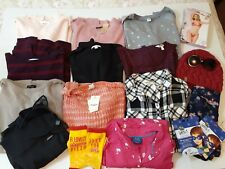 Women's Mixed Lot 22 Clothing Jewelry Tops Sweaters American Eagle TJ Maxx Large