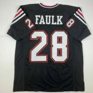New MARSHALL FAULK San Diego State College Custom Stitched Football Jersey XL