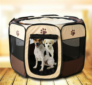 Large Dog Crate Cat Cage Pet Travel Carrier Oxford Fabric Play Pen Fence Tent UK