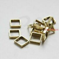 3586C-J-260X 10 Pieces Raw Brass Charms Rectangle 48x4mm