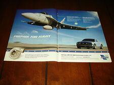 2005 VORTECH SUPERCHARGER MUSTANG FA-18 SUPER HORNET JET **ORIGINAL 2 PAGE AD***