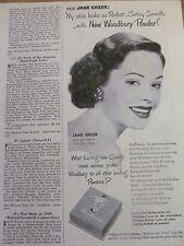 Jane Greer, Woodbury Powder, Vintage Print Ad