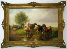 THOMAS SIDNEY COOPER (1803-1902), KÜHE AN DER TRÄNKE (BIS EURO 222.930,00)