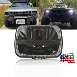 "CREE 5X7"" 7x6"" LED Clear Projector Headlight For Jeep Cherokee XJ YJ Ford GMC"