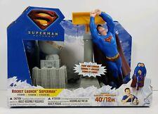 Superman Returns Rocket Launch Superman Figure DC Mattel 2006 Pump & Launch