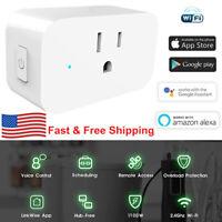 WiFi Smart Plug Works for Amazon Alexa 3 prong Single Socket Remote Control USA