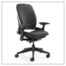 Steelcase Leap Chair V2 In Black Fabric