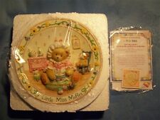 CHERISHED TEDDIES LITTLE MISS MUFFET I'M NEVER AFRAID WITH YOU AT MY SIDE PLATE