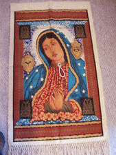 "Virgin Lady of Guadalupe Art Tapestry Mexico Wall Décor  54"" Cotton Canvas"
