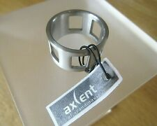 GENUINE AND BRAND NEW MENS AXCENT OF SCANDINAVIA STAINLESS STEEL RING