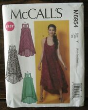 New Uncut McCall's EASY M6954 Y MISSES' DRESSES Pattern US Sizes XSM SM MED