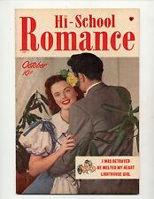 HI-SCHOOL ROMANCE #1  [1949 FN+]  PHOTO COVER!  FILE COPY!
