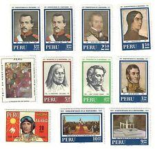 perù 1969 - 1971 11 francobolli NUOVO**  COD.FRA.859