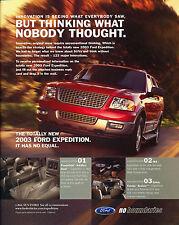 2003 Ford Expedition Original Advertisement Car Print Ad J348