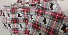 Plaid Black Scottie Dog Flannel 100% Cotton Fabric Remnants  Doll Clothes Craft