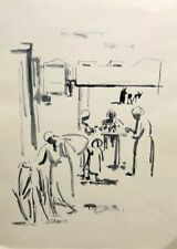 David Hendler: New Immigrants in Transit Camp 1950s / Israeli Jewish Modern Ink