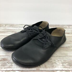 VivoBarefoot SIZE 43 MENS 10 Black Leather Oxford Minimalist Barefoot Shoes