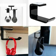 Headphone Stand Hanger Clever Tape Mount Holder Dual Headset Hook Under Desk New