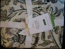 Pottery Barn Haylie Organic Shower Curtain gray multi New with tags