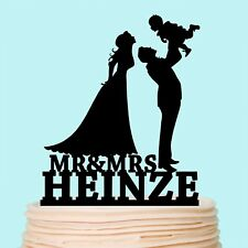 Family Cake Topper Personalized Couple with Child Baby Girl Boys Anniversary