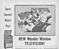 1948 Television Vintage Print Ad Stewart Warner New Wonder Window Television