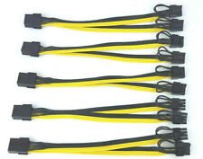 More details for 5-pack pci-e 8pin to 2x 8pin (6+2) pci express gpu power adapter cable splitter