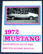 Ford Mustang Illustrated Facts Book 1972 72 Repro Vintage dealer literature