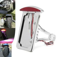 Motorcycle LED Side Mount License Plate Tail Brake Light for Harley Custom