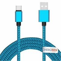 Fabric Braided USB-C USB 3.1 Type C Data Charger Cable for OMobile Noir Z14
