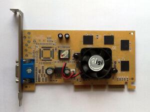 Gold Colored Ennyah Digicolor nVidia GeForce2 MX400 64MB AGP VGA Card - Test OK!