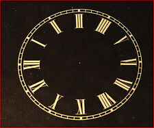 ITHACA CALENDAR CLOCK UPPER DIAL FOR PARLOR 3 1/2 IN BLACK & GOLD NEW