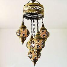 Estilo Marroquí/Turco, amarillo 5 Lámpara de luz de techo Sultán. enviado desde el Reino Unido.
