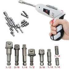 """8Pcs Set Socket Adapter Impact Hex Shank Drill Bits Bar Set 1/4"""" 3/8"""" 1/2"""" Bits"""