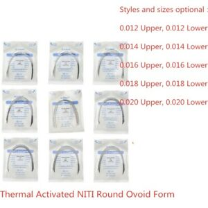 50XDental Arch Wire Thermal Activated NITI Round Ovoid Form AZDENT USA