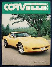 Prospekt brochure Corvette News October / November 1979 (USA)