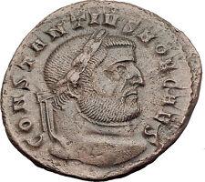 CONSTANTIUS I Chlorus as Caesar 298AD Ticinum Follis Ancient Roman Coin i63192