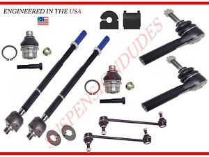 PAIR Inner Tie Rod Ends for 07-17 Jeep Patriot Compass 07-12 Dodge Caliber