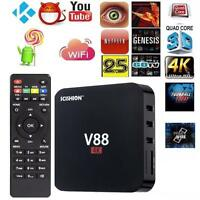 V88 HD Android 5.1 Smart TV Box RK3229 4K Quad Core 16.1 8GB WiFi Media Player