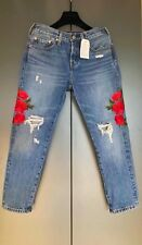 $128 ! NWT Womens Jeans Levi's 501 Rose Distressed Tapered Leg Color Size27