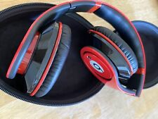 Beats by Dr. Dre Studio Headband Headphones And Case - Red/Black