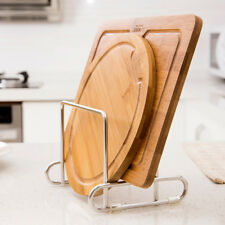 ORZ Cutting Board Holder Stainless Steel Chopping Board Stand Rack Kitchen