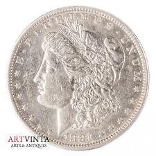1881 o morgan one dólares Silver moneda de plata unidos américa coin Liberty
