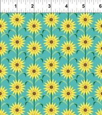 In the Beginning Deco State Flowers 20DSF1 Maryland BTY COTTON