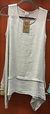 Match Point Linen  Sandy layered top sleeveless EXTRA LARGE