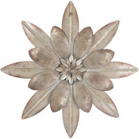 "Galvanized Metal Flower Wall Decor.11"" Floral Rustic Metal Decor Free shipping"