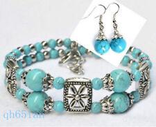 Beautiful!Tibetan style Tibet Silver Bangle lady Jewelry Bracelet + Earring